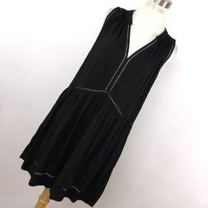 Seafolly M Medium Dress Black Sleeveless V Neck